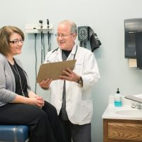 doctor reviews results with patient (additional programs)